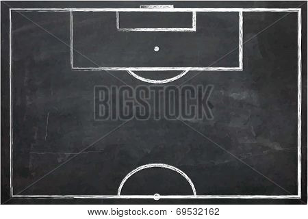 Illustration Of Chalk Board With Drawing