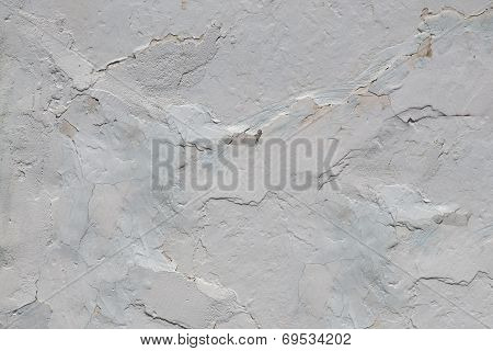 Cracked White Walls, Old Plaster