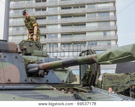 Soldier Standing On Tank