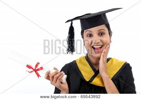 Successful Young Female Graduate