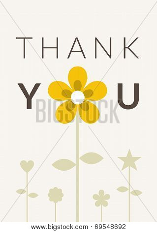 Thank you Card Flower Theme