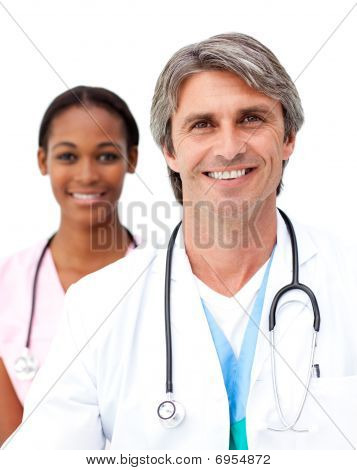 Senior Doctor With His Colleague