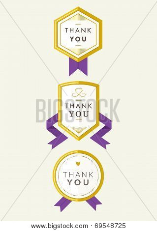 Gold Badge Set I