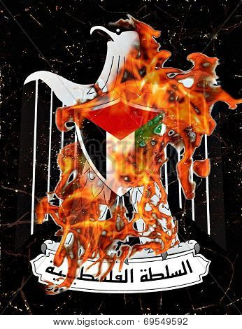 Palestine Burning Symbol Illustration Concept