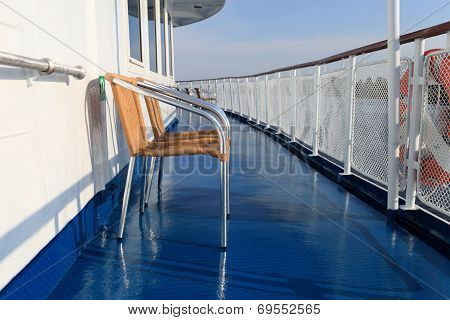 Chair On A Deck Of Ship