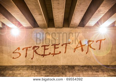 The Words Street Art Painted As Graffiti