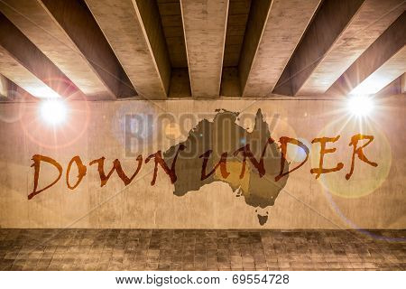 Down Under Map As Wall Drawing