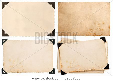 Old Cardboard With Corner, Postcard, Aged Paper