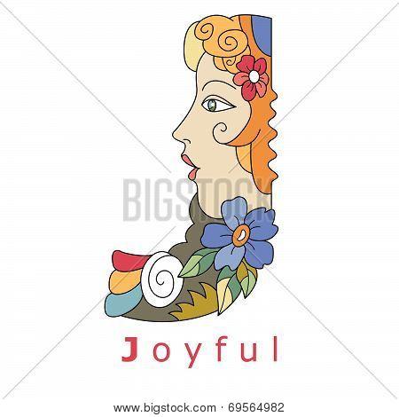 Letter J - Joyful