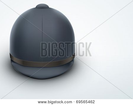 Light Background Jockey helmet for horseriding athlete