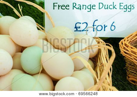 Free Range Duck Eggs In British Market