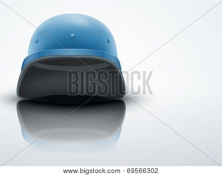Light Background Military helmet of United Nations