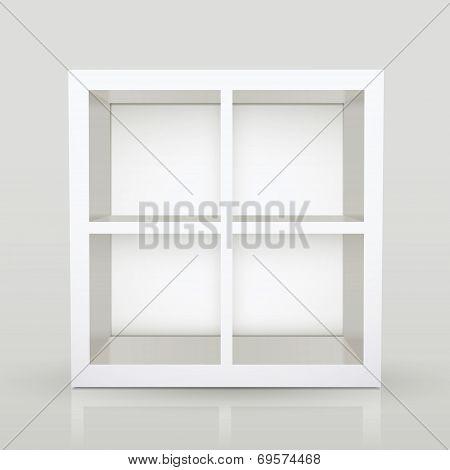 Blank Modern Bookcase