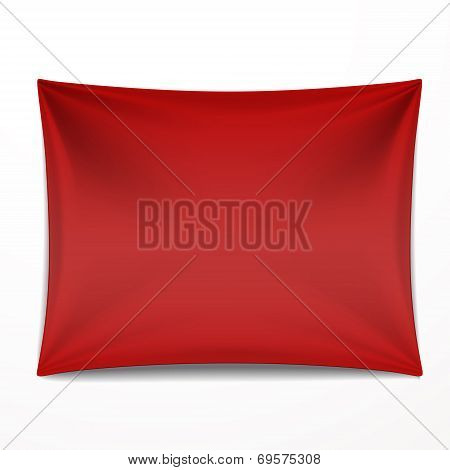 Red Textile Banner With Folds