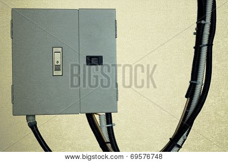 Electric System In Cabinet  Building System Vintage Blackground