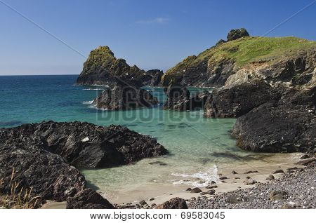 The turquoise of Kynance Cove.