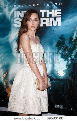 NEW YORK-AUG 4: Actress Alycia Debnam-Carey attends the