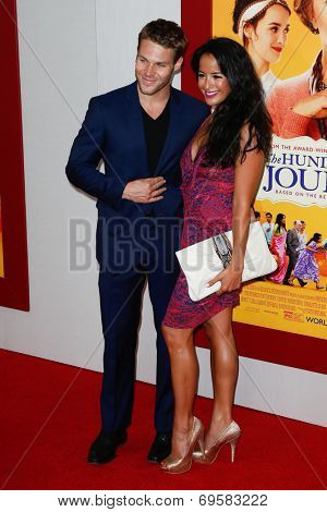 NEW YORK-AUG 4: Actors Brock Harris (L) and Courtney Reed attend