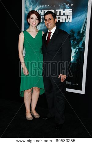 NEW YORK-AUG 4: Stormchaser Ken Cole (R) and wife Amber Cole attend the