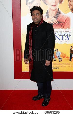 NEW YORK-AUG 4: Composer A. R. Rahman attends