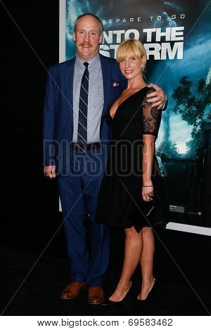NEW YORK-AUG 4: Actor Matt Walsh (L) and wife Morgan Walsh attend the