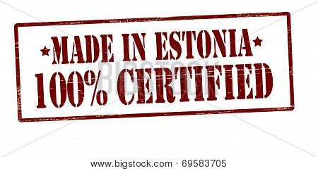 Made In Estonia One Hundred Percent Certified