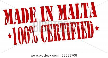 Made In Malta One Hundred Percent Certified