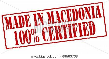 Made In Macedonia One Hundred Percent Certified