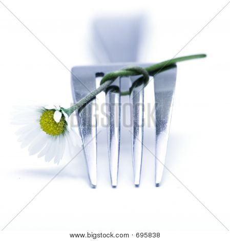Fork And Flowers