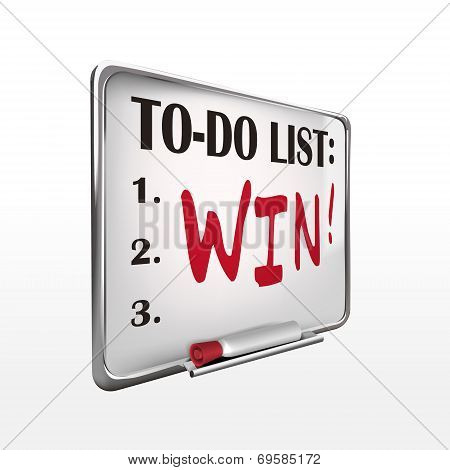 The Word Win On To-do List Whiteboard
