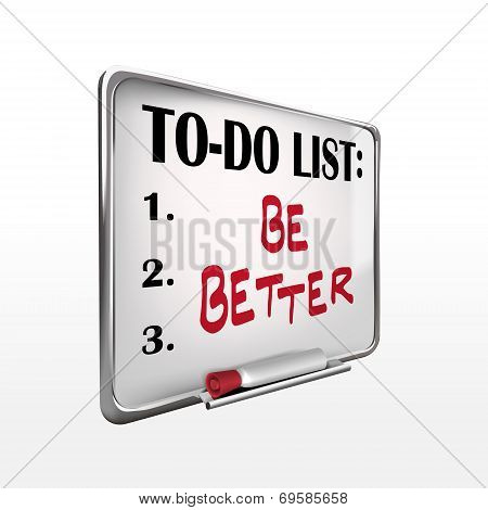 Be Better On To-do List Whiteboard