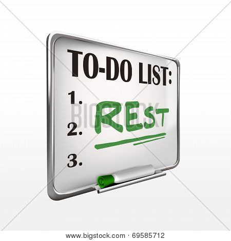 The Word Rest On To-do List Whiteboard