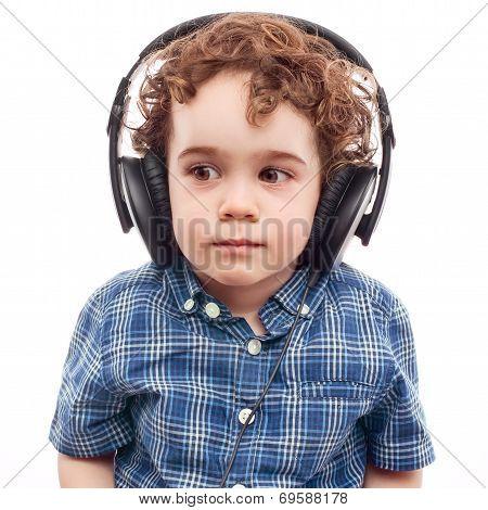 Cute Boy On Modern Technology