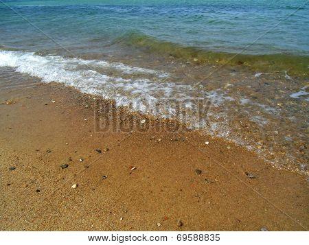 The Waves On The Sea Beach