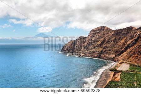an amazing landscape from La Gomera the one of the Canary Islands, Spain