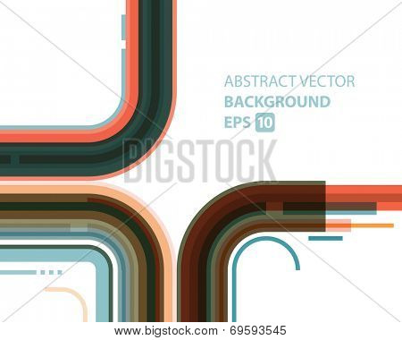 Abstract vector background. Technology geometric retro style lines design.