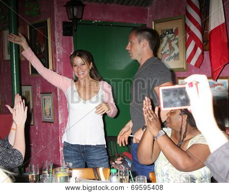LOS ANGELES - AUG 1:  Nancy Lee Grahn, William deVry at the William deVry Fan Club Event at the California Canteen on August 1, 2014 in Los Angeles, CA