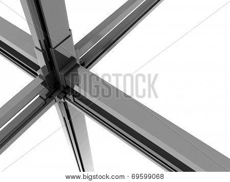Silver metal dynamic block background 3d illustration