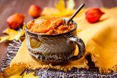 pic of butternut  - Pumpkin puree in a bowl - JPG