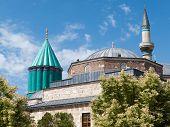 picture of rumi  - Mevlana museum mosque in Konya - JPG