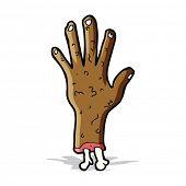 foto of gross  - gross zombie hand cartoon - JPG