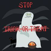 picture of horrifying  - Stop trick or treat  - JPG