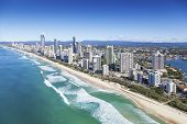 picture of high-rise  - Aerial view of Gold Coast Queensland Australia