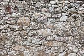 pic of stonewalled  - Antique natural stonewall old stones in different sizes - JPG