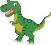 picture of tyrannosaurus  - Vector illustration of tyrannosaurus cartoon isolated on white - JPG