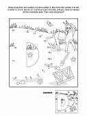 stock photo of letter d  - Educational connect the dots picture puzzle and coloring page  - JPG