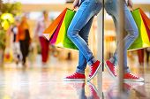 stock photo of mall  - Shopping time - JPG