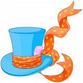 image of top-hat  - Illustration of Top hat of Mad Hatter - JPG