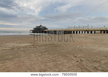Blankenberge Beach And Pier.