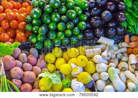 Vegetables at a market